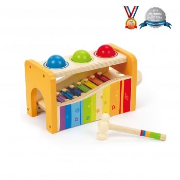 Banc à marteler avec Xylophone - Hape - Trésors d'Enfance à Rodez