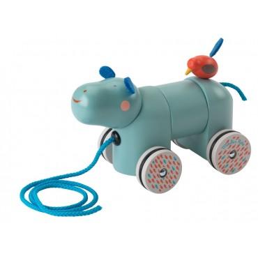 Hippopotame à tirer - Les Papoum - Moulin Roty - Trésors d'Enfance à Rodez