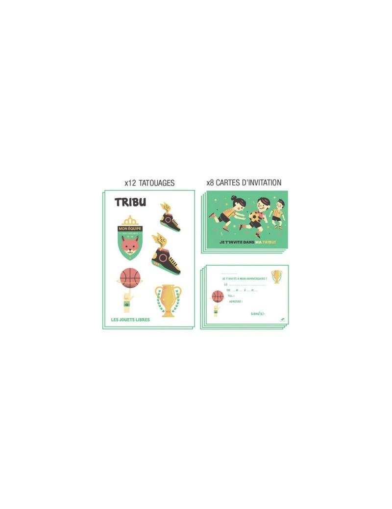 Carte D Invitation Anniversaire Tribu Les Sportifs Les Jouets Libres Tresors D Enfance A Rodez