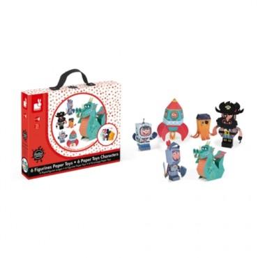 Figurines Paper Toys - Janod - Trésors d'Enfance à Rodez