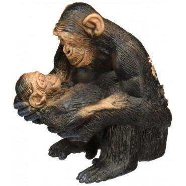 Chimpanzé femelle avec son bébé - Figurine Animal - Schleich - Trésors d'Enfance à Rodez