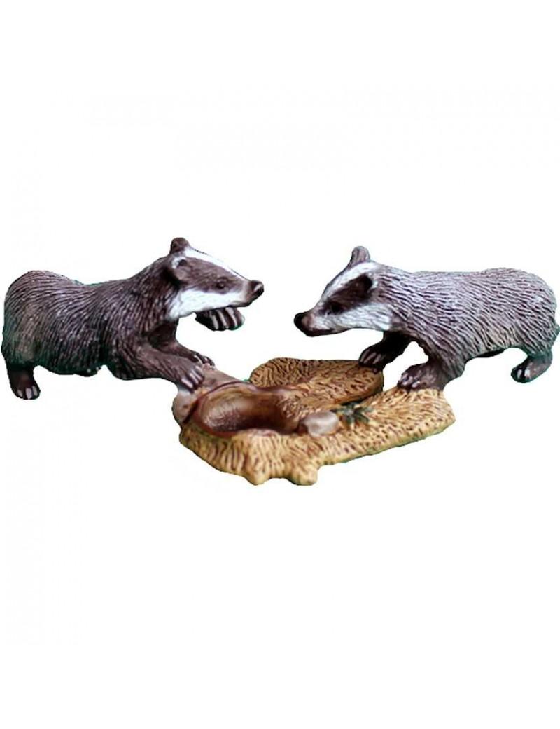 Bébés blaireaux - Figurine Animal - Schleich - Trésors d'Enfance à Rodez