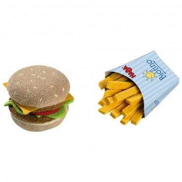 Sandwich et frites en tissus - Haba - Trésors d'Enfance à Rodez