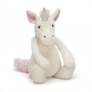 Peluche licorne 31 cm : Bashful Unicorn - Jellycat - Trésors d'Enfance à Rodez