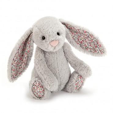 Peluche Lapin : Small Blossom Silver Bunny - Jellycat - Trésors d'Enfance à Rodez
