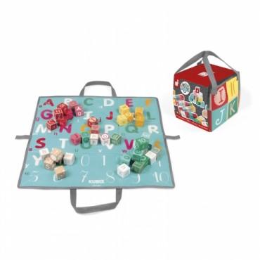 Kubix - 40 Cubes Lettres et Chiffres - Janod - Trésors d'Enfance à Rodez