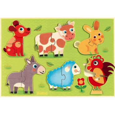 Puzzle 12 pièces : Coucou-Cow - Djeco - Trésors d'Enfance à Rodez