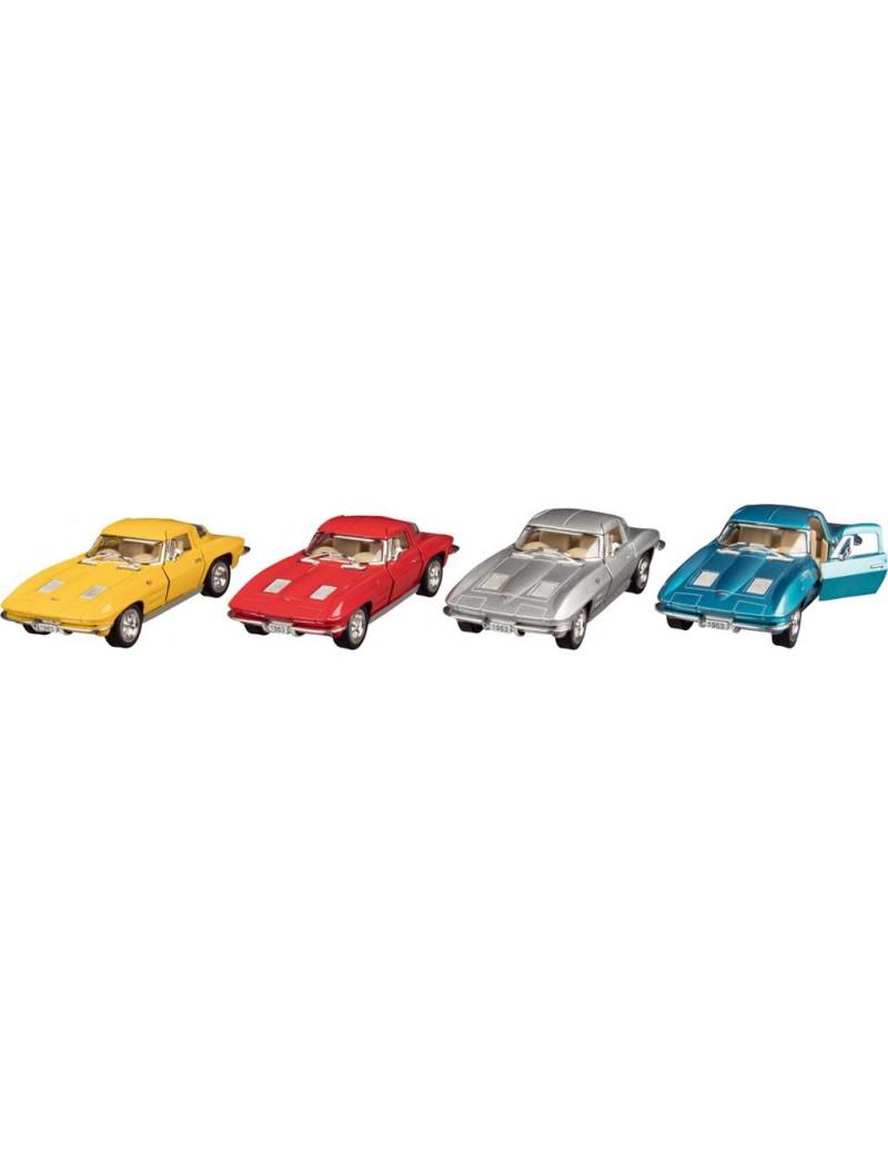 Véhicule Miniature : Corvette 1963 - Kinsmart - Trésors d'Enfance à Rodez