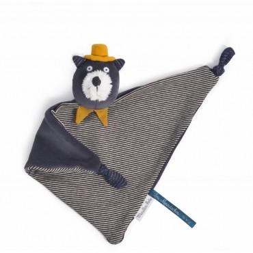 Doudou Chat gris Alphonse Les Moustaches - Moulin Roty Trésors d'Enfance à Rodez-bébé-cadeau-naissance-enfant