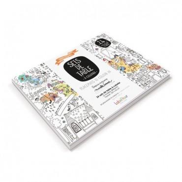 Sets de table à colorier : Anniversaire - Marielle Bazard - Trésors d'Enfance à Rodez