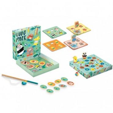 LudoPark 4 jeux - Djeco - Mémo Loto Pêche Parcours Trésors d'Enfance