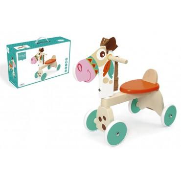Porteur Poney Indien en bois - Scratch - Trésors d'Enfance à Rodez-jeux-jouets