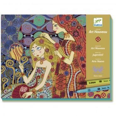 Feutres Pinceaux : Art Nouveau - Djeco - Trésors d'Enfance à Rodez