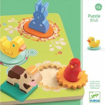 Puzzle relief : Bildi - Djeco - Trésors d'Enfance à Rodez