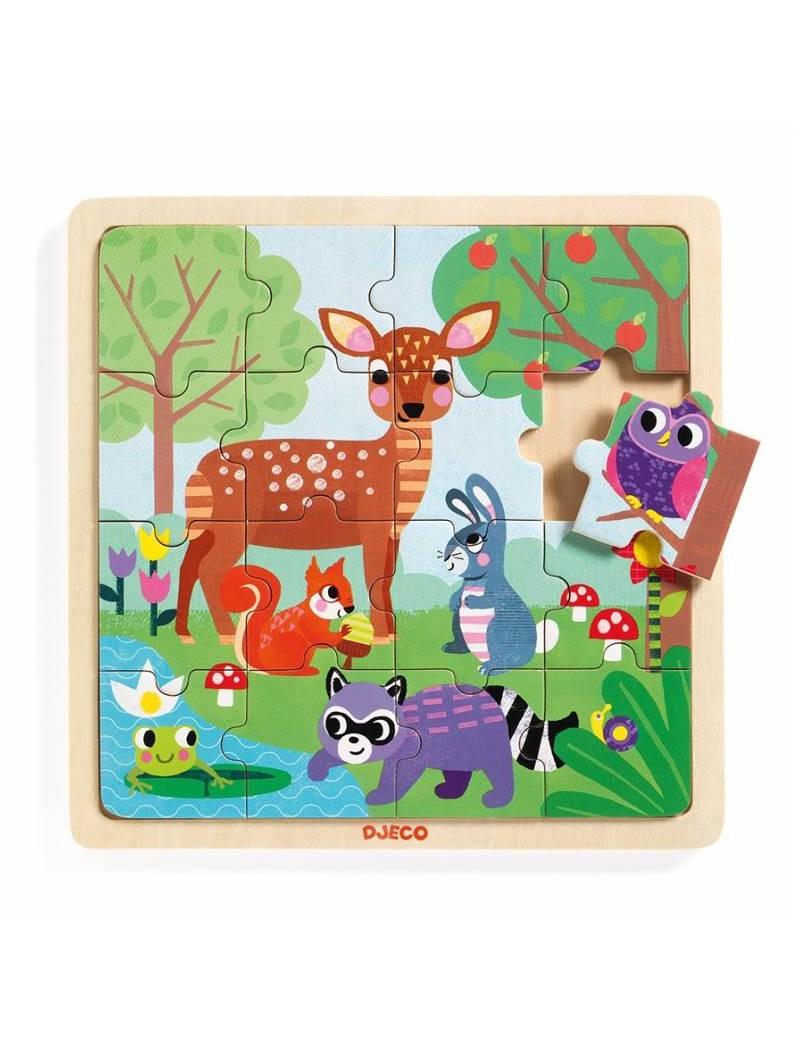 Puzzle Forest 16 pièces 3 ans - Djeco - Trésors d'Enfance - Rodez
