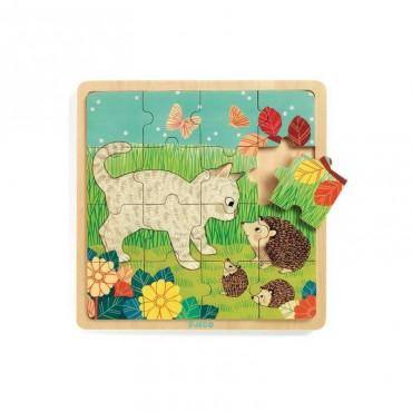Puzzle Garden 16 pièces 3 ans - Djeco - Trésors d'Enfance - Rodez