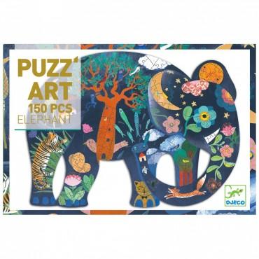Puzz'Art 150 pièces : Elephant - Djeco - Trésors d'Enfance à Rodez