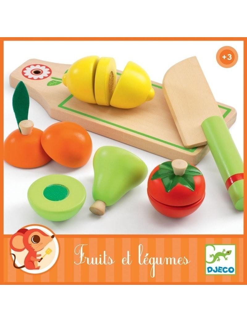 Fruits et légumes en bois à couper : Djeco - Trésors d'Enfance à Rodez