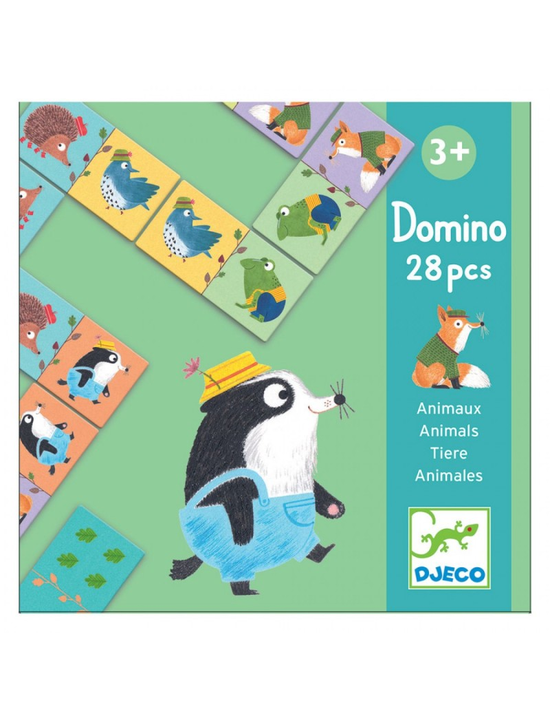 Domino : Animaux - Djeco - Trésors d'Enfance à Rodez