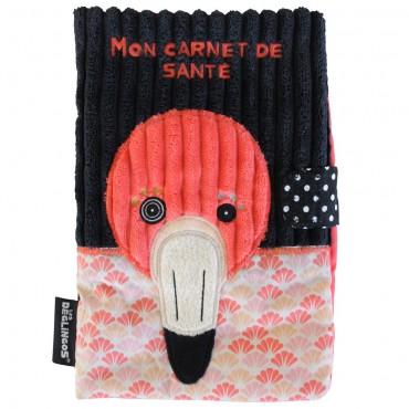 Protège Carnet de Santé Flamingos - Les Deglingos - Trésors d'Enfance à Rodez