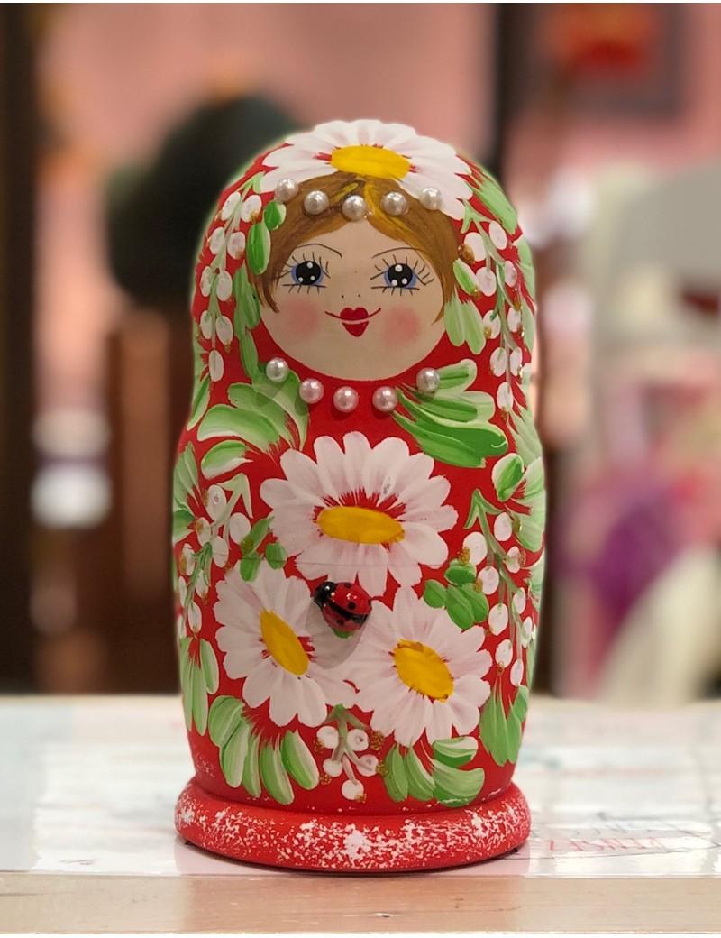 Matriochkas Fleurs de pays 5 pièces - Trésors d'Enfance à Rodez