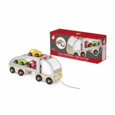 Camion Multi Bolides à traîner - Janod - Trésors d'Enfance à Rodez