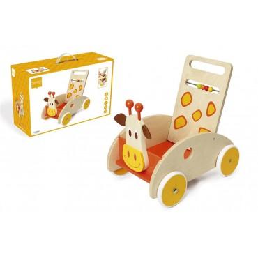 Chariot de marche en bois girafe - Scratch - Trésors d'Enfance à Rodez-jeux-jouets