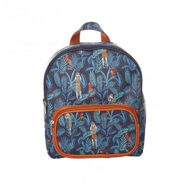 Sac à dos maternelle Jungle Bleu - Caramel & Cie - Trésors d'enfance