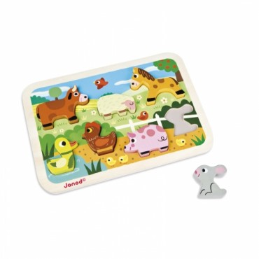 Puzzle Chunky Ferme - Janod
