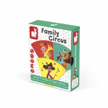 Jeu de 7 familles : Family Circus - Janod - Trésors d'Enfance à Rodez