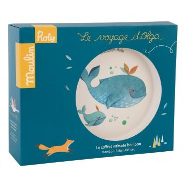 Set vaisselle en bambou - Le Voyage d'Olga - Moulin Roty - Trésors d'Enfance à Rodez
