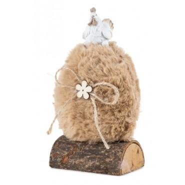 Décoration de Pâques - Poule sur Oeuf beige - Trésors d'Enfance à Rodez