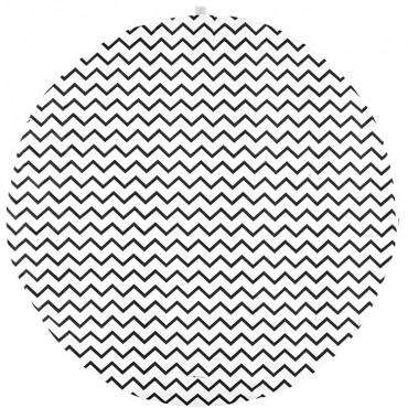 Tapis Rond Apache Zigzag black - Nobodinoz - Trésors d'Enfance Rodez