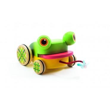 Jouet à tirer : Croa Froggy le Crapaud - Djeco - Trésors d'Enfance Rodez