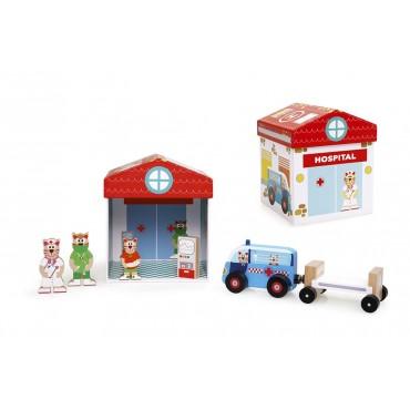 Boîte à jouets Hôpital 2 en 1 - Scratch - Trésors d'Enfance à Rodez
