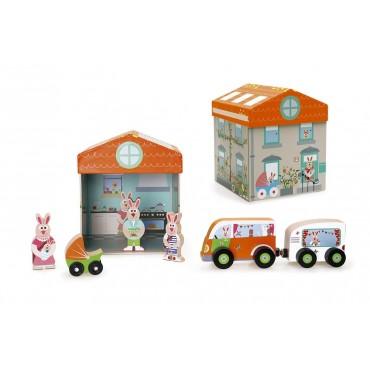 Boîte à jouets Maison 2 en 1 - Scratch - Trésors d'Enfance à Rodez