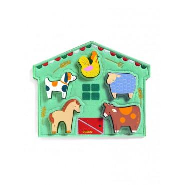 Puzzle relief 5 pièces : Mowy - Djeco - Trésors d'Enfance
