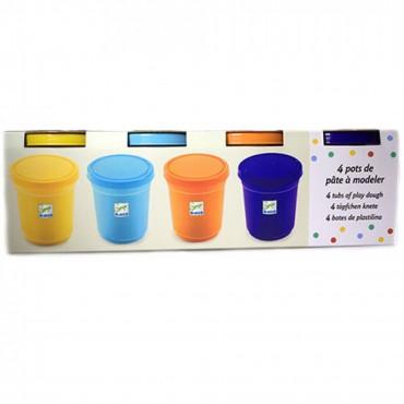 4 pots de pâte à modeler - Djeco - Trésors d'Enfance à Rodez