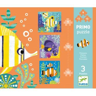 Puzzle Primo : Poissons - Djeco - Trésors d'Enfance à Rodez