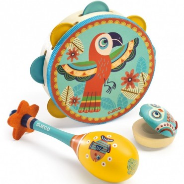 Animambo, set instruments de musique - Djeco - Trésors d'Enfance à Rodez