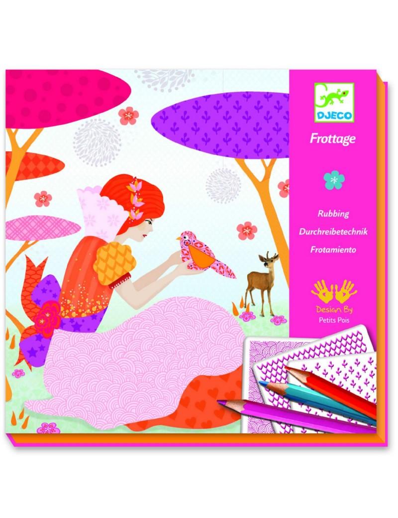Motifs à frotter : Les jolies robes de Louna - Djeco - Trésors d'Enfance à Rodez
