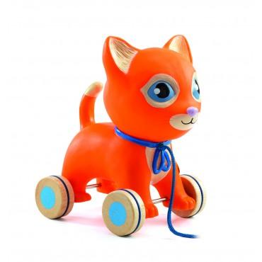 Jouet à tirer : Mila le chat - Djeco - Trésors d'Enfance à Rodez