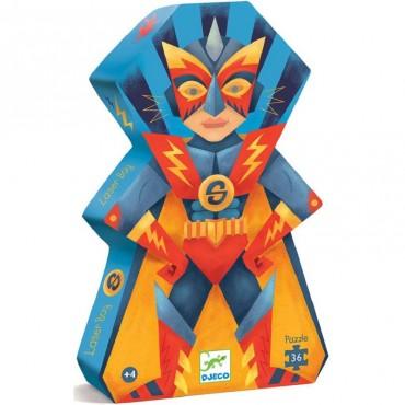 Puzzle silhouette 36 pièces : Laser Boy - Djeco - Trésors d'Enfance à Rodez