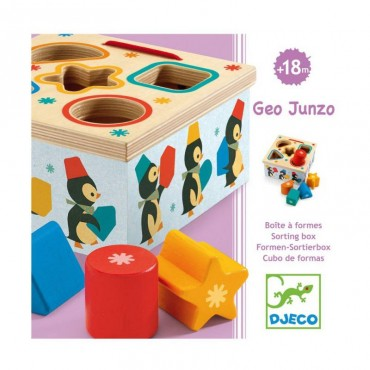 Boîte à formes Geo Junzo Djeco Trésors d'Enfance Rodez