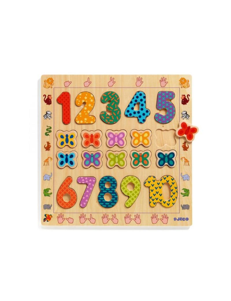 Puzzle éducatif 1-10 - Djeco - Trésors d'Enfance à Rodez