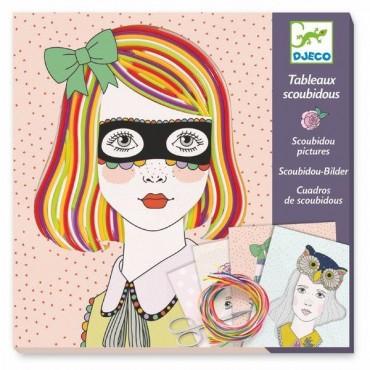 Tableaux scoubidous : Pepsy tifs - Djeco - Trésors d'Enfance à Rodez
