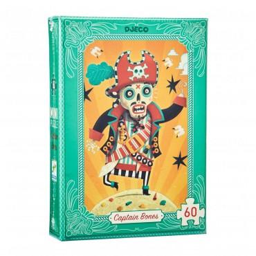 Mini Puzzle 60 pièces : Captain Bones - Djeco - Trésors d'Enfance à Rodez