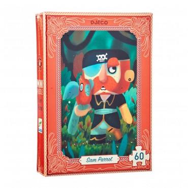 Mini Puzzle 60 pièces : Sam Parrot - Djeco - Trésors d'Enfance à Rodez