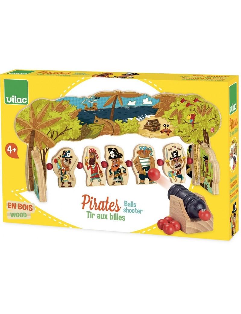 Tir aux billes en bois Pirates - Vilac - Trésors d'Enfance à Rodez