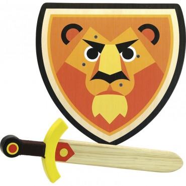 Set bouclier et épée Lion - Vilac - Trésors d'Enfance à Rodez